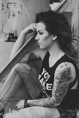 monika.09 (guzik_) Tags: portrait woman senior girl tattoo female 50mm blackwhite model nikon 50mm14 monica nikkor bnw inked polishgirl d610