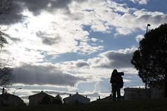 CSantiagoP-20 (mtrejo_7) Tags: viaje espaa contraluz camino cielo nubes caminodesantiago mochila mrida extremadura