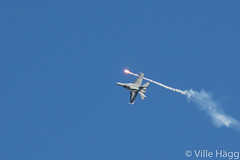 Fire at Will (villeah) Tags: plane fighter aircraft aviation military jet flare fa18hornet