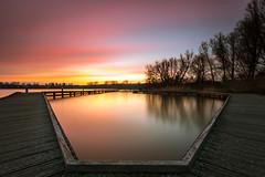 Sunset@Kralinse plas (Wessel...) Tags: longexposure sunset water canon goldenhour kralingen 1635 kralingseplas