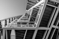 Sky High (fuTuRe Photography by Scott Mc Clintock) Tags: sky blackandwhite bw building london monochrome lines architecture skyscraper mono blackwhite high lookingup shard skyhigh theshard theviewfromtheshard