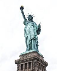 statute of liberty (twurdemann) Tags: newyorkcity travel newyork statue unitedstates manhattan torch copper nationalparkservice colossal libertyisland bleachbypass statuteofliberty newyorkharbor gustaveeiffel statueoflibertynationalmonument libertas bedloesisland glamourglow neoclassicalsculpture whiteneutralizer nikcolourefex fredericaugustebartholdi detailextractor xf1855mm fujixt1 2016tripnewyork