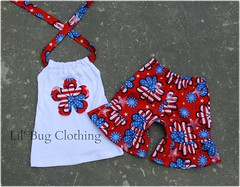 July 1 (Lil' Bug Clothing) Tags: girls outfit flag 4th july short halter of