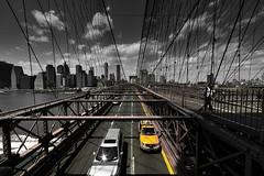 Manhattan, Jaune, 1 (Patrick.Raymond (2M views)) Tags: nyc bridge usa yellow brooklyn jaune nikon manhattan cab taxi beautifulphoto nikonflickraward