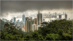 View of Hong Kong from the the Peak (Chas56) Tags: city skyline clouds canon buildings hongkong cityscape view harbour peak vista thepeak kowloon height hongkongharbour hongkongpeak canon5dmkiii