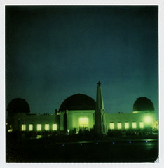 Night At The Observatory (tobysx70) Tags: california park ca toby 2 test color film monument night project polaroid sx70 photography for james la los spring nocturnal angeles dean observatory telescope tip cameras hollywood obelisk type april instant week 20 hancock griffith day6 gen pioneer generation impossible roid the gen2 0315 2016 astronomers rebelwithoutacause polaroidweek at roidweek impossaroid