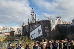 un-fuck the system (Mark Rigler UK) Tags: show england castle art sign crowd banksy dismaland