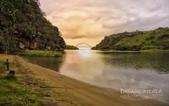 Bridging the sun (Dreamcatcher photos) Tags: houses sea green grass clouds southafrica path mosselbay edendistrict dreamcatcherphotos
