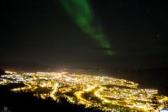 Northern Light and Narvik (Jan-Roger Olsen) Tags: longexposure sky oktober nature norway night dark norge outdoor no natur aurora natt narvik auroraborealis nordlys 2014 nordland northernlight 2014october