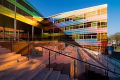 _DSC2240 (durr-architect) Tags: light sun colour reflection netherlands glass architecture modern facade offices almere dfense berkel unstudio
