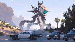 Simon Stalenhag hyper realistic dystopian sci fi (goa_entranced) Tags: art scifi wacom realistic dystopia