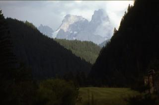 1977 Agosto Predazzo, vista sulle Pale di San Martino di Castrozza