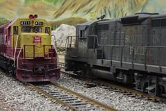 Red Bluff crossing (steamfan1211) Tags: railroad railway trains railroads rockisland modelrailroad southernpacific hoscale
