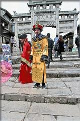 Posing for photos: Ming costumes (Bruno Zaffoni) Tags: china guizhou cina qingyan
