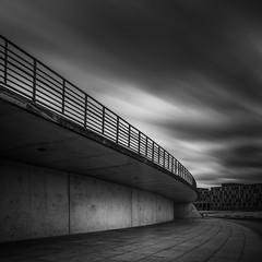 Berlin (Jaques10000) Tags: city longexposure motion berlin monochrome clouds blackwhite nikon le d5100