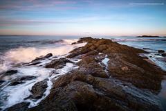 On the Rocks (Damon Finlay) Tags: sunset seascape water rock landscape coast scotland movement rocks fuji bass north east forth horseshoe northberwick berwick fujinon lothian firth firthofforth bassrock eastlothian xe1 watermovement f284 fujixe1 xf1855mm xf1855mmf284