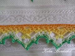 KikaBordados Kika  Krauss 036 (Kika Bordados by Angelica Krauss) Tags: flowers flores handmade embroidery crochet towel artes emboidery artesanatos croche embroider toalhas feitoamo feitomo kikabordadoskikakrauss