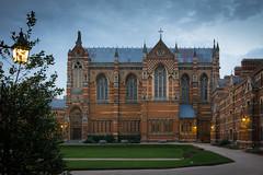Keble College, Oxford (Marsjan) Tags: evening oxford lamplight neogothic redbrick 1870 keblecollege
