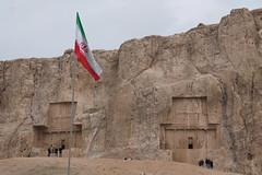 Naqsh-e Rostam - tombs of Artaxerxes and Darius (plutogno) Tags: iran persia archeology persian empire tomb darius artaxerxes