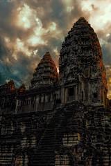 Angkor (thorgan experiment) Tags: morning orange architecture sunrise temple nikon asia cambodge asie angkor couleur d3 thorgan