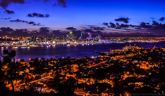 Auckland nightscape (samir rafsan) Tags: city sunset newzealand sky night landscape lights twilight nikon long exposure cityscape image auckland nz lightroom astounding