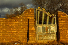 The Corner Gate (jwoodphoto) Tags: newmexico brick wall gate rustic weathered tome jwoodphoto adobebricks