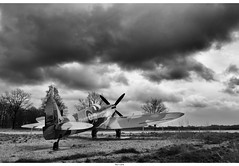 Grounded, but the Urge to fly never ends.... (Strange Artifact) Tags: bw white black museum sony 28mm spitfire 20 fe zwart wit weiss schwarz supermarine soest militair nationaal a7r sel28f20