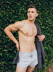 Photo Shoot : Robbie (jkcphotos15) Tags: shirtless man male model photoshoot outdoor muscle handsome physique