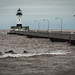 Lighthouse on Stormy Canal Park, Duluth