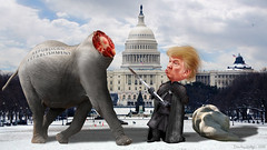 Lord Commander Trump Decapitates the Establishment Republicans (DonkeyHotey) Tags: elephant art photomanipulation photoshop photo election political politics manipulation politician thedonald donaldtrump republican campaign sr dnc primary gop rnc apprentice commentary politicalart generalelection 2016 politicalcommentary supertuesday donaldjohntrump donkeyhotey