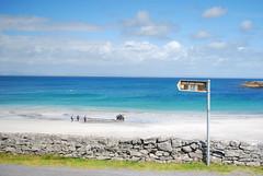 Man of Aran (eoril - Flavia Cavallini) Tags: blue ireland sky beach clouds landscape island shades shore aran irlanda