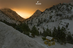 enjoy the snow!! (boukarimkarim) Tags: longexposure trees light white mountain snow cottage pollution cedar canon6d karimboukarim wwwkarimboukarimcom