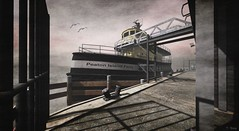 Ferry at Furillen (Tripp Nitely) Tags: ferry pier boat dock outdoor scenic secondlife nautical furillen secondliefphotograhy