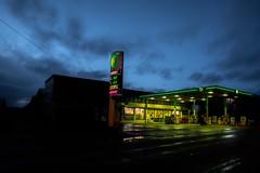 BP (Number Johnny 5) Tags: england sky urban tarmac night dark nikon garage great norfolk east d750 yarmouth bp tamron anglia 2470mm