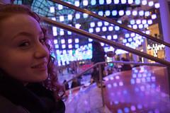 Small Girl, Big City (calum_o_d) Tags: city nyc holiday newyork beautiful upload girlfriend neon redhead shoping focal citybreak