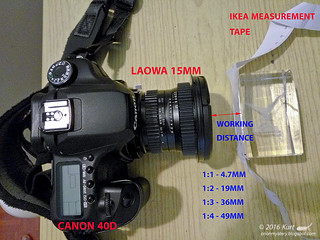 Laowa 15mm working distances
