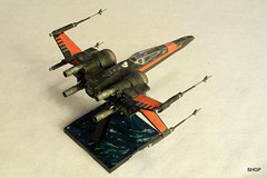 IMG_2125 (harrison-green) Tags: film movie star model fighter force space wing x xwing spaceship wars poe 172 bandai t70 awakens dameron incom