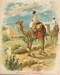 Er was eens kinderboek  pm 1900,  litho b (janwillemsen) Tags: camels arabs bookillustrationchromelithographchildrensbook1900