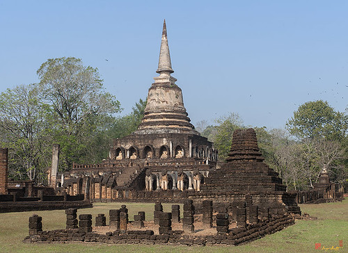 Wat Chang Lom Wihan and Chedi (DTHST0116) วัดช้างล้อม วิหารและเจดีย์