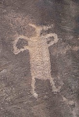Petroglyph at Shay Canyon (Ron Wolf) Tags: archaeology utah fremont nativeamerican petroglyph anthropology rockart anthropomorph anthromorph
