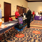 A student explores the options available at a Career Fair in the Witherspoon Rooms