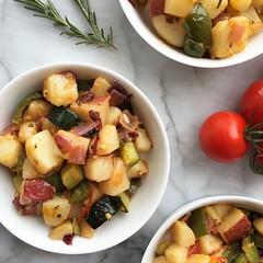 Vegetarian Trash Hash (Jackie Newgent RDN, CDN) Tags: vegetables breakfast recipe vegan potatoes healthy side sidedish rosemary vegetarian hash stopfoodwaste