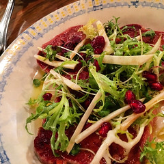 Ox tongue and radicchio special dinner at Grossi's Merchant in Melbourne