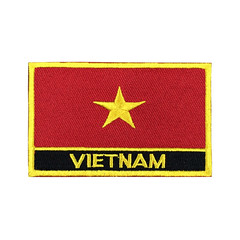 Vietnam Flag Patch Embroidered Patch Gold Border Iron On patch Sew on Patch Bag Patch (edwardCepheus) Tags: gold iron flag border nation sew vietnam patch patches embroidered