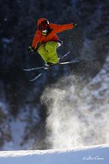 Sky Helicptero (Lluis Carro) Tags: sky nieve salto hombre helicptero esqu saltador contralz