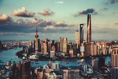 portrait (blackstation) Tags: city skyline skyscraper river shanghai landmark