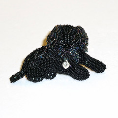 LABRADOODLE LOVE beaded Golden Doodle dog pin pendant art jewelry (The Lone Beader) Tags: pets fashion goldenretriever shopping beads amazon handmade jewelry gifts etsy beading cockapoo goldendoodle beadwork seedbeads beadembroidery dogjewelry akcshowdog
