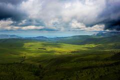 Reaching for the clouds, Nyanga, Zimbabwe (ereid88) Tags: morning blue sky sunlight green clouds landscape daylight outdoor january scenic hills zimbabwe nyanga rainyseason easternhighlands nyanganatianalpark