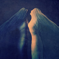 the silence (brookeshaden) Tags: selfportrait darkness surrealism fineart conceptual figurative darkart bedsheet femaleform brookeshaden