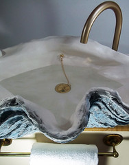 Blue Sink 4 (LittleGems AR) Tags: ocean blue sea sculpture sun beach home giant bathroom shower aquarium soap sand bath sink unique decorative aquamarine shell craft style toilet towel clam basin special clean shampoo taps wash seashell pearl nautical reef decor spa luxury opulent fossils clamshell mollusks cloakroom bespoke tridacna sculpt crafted gigas facetowel